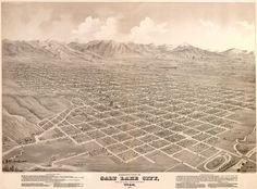 Vintage Map - Salt Lake City, Utah 1875