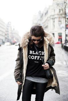 Kiwi Women Black Harajuku Tracksuits Moletom Kpop Tops Long Sleeve Hoodies OK BUT FIRST COFFEE Printed Hipster Sweatshirts