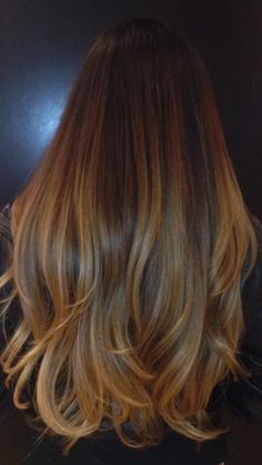 A beautiful blend of browns melting into blonde.