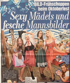 Bild Newspaper at the Oktoberfest 2014 - Galia and her friends.
