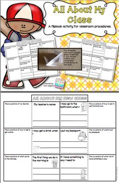 Teach Classroom procedures with this cute flip book - Free