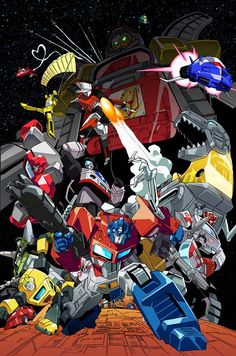 Autobots by unknown artist.  Found this cool piece of art but was unable to give credit to the artist that made this masterpiece.