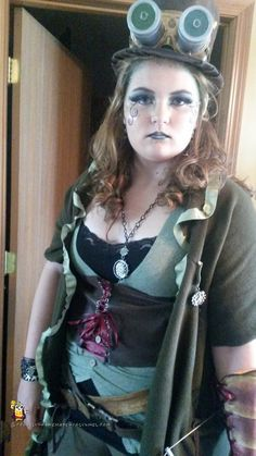 ComicCon Costume - the tallest steampunk elf imaginable, a 13 year old girl's costume.