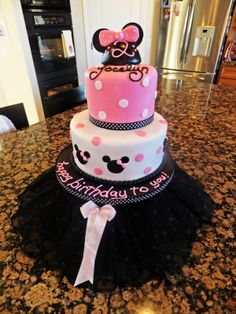 pink and black minnie mouse party - Google Search
