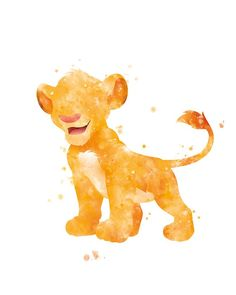 Simba Print Hakuna Matata Aquarell Kunstdruck Disney Poster druckbare Lion King Kunstdruck Aquarell Disney Art Disney Print Geschenk Wandkunst - T-shirt - Arte Disney, Punk Disney, Disney Art, Simba Disney, Disney Lion King, Cute Disney Wallpaper, Wallpaper Iphone Disney, Watercolor Disney, Watercolor Art