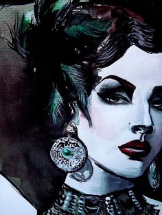 Idda van Munster (Aida Đapo)  Retro | Vintage Model  The Bosnian vintage girl/model/blogger/make-up and hair artist.  Pin- Up Art of Therese Rosier  Watercolors | Ink | Acrylic