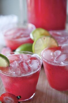 Strawberry Margarita Punch Recipe ~ So good!! | Divas Can Cook Check out the website to see more