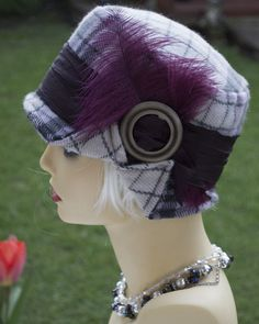 Vintage inspired cloche style 1920s 1930s 1940s hat
