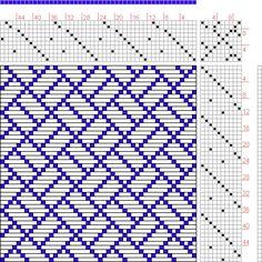 Hand Weaving Draft: Page 75, Figure 2, Orimono soshiki hen [Textile System], Yoshida, Kiju, 10S, 10T - Handweaving.net Hand Weaving and Draft Archive