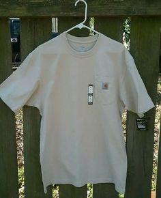 0e3ee38f2da628 Carharrt Beige Short Sleeve T Shirt w Pocket Mens Size M New w  tags   fashion  clothing  shoes  accessories  mensclothing  shirts (ebay link)