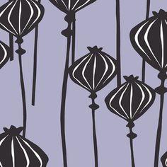 Jane Dixon - Poppy Modern - Seed Heads in Black