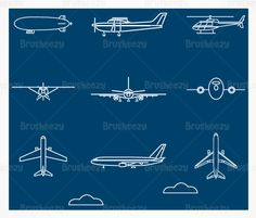 vintage airplane outline - Google Search