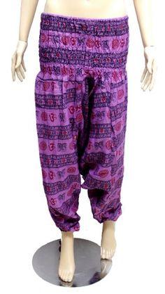 Yoga Pants, Harem Pants, Cotton Pants, Krishna, Elastic Waist, Cotton Fabric, India, Boho, Amazon