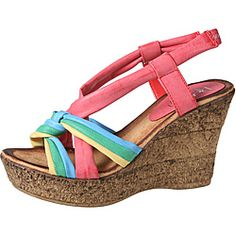 2ef10d2861 Refresh by Beston Women's 'CABY-05' Sling-back Wedge Sandals Shoes Outlet