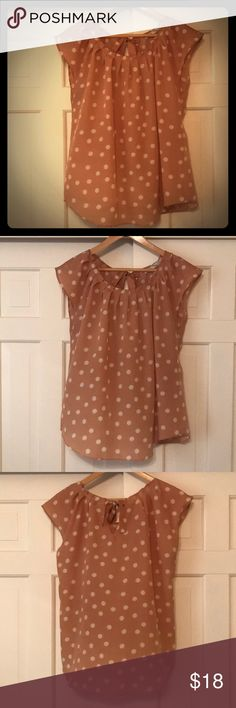"""Lauren Conrad, polka dot top My friends dubbed this my """"pretty woman"""" top!  It's very comfortable and the cute tie back has always been my favorite part. LC Lauren Conrad Tops Blouses"""