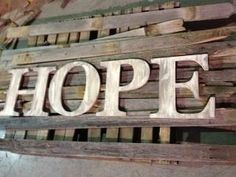 HOPE... hand painted 14  wood letters.  by ASimplePlaceOnMain, $79.00