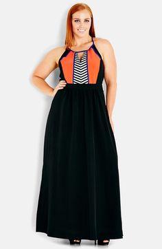 Plus Size Women's City Chic 'Aztec Fun' Maxi Dress