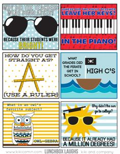 Lunchbox Laughs - Back to School Edition - My kids will love these printables in their school lunch!