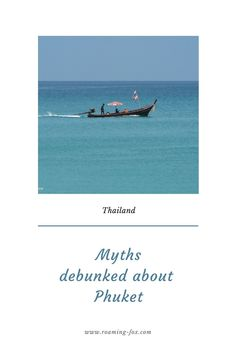 Myths debunked about Phuket, Thailand. Common misconceptions about Phuket that may put travellers off visiting Thailand. #thailand #mythsbusted #Phuket #island #islandvibes #travel #tourism Visit Thailand, Phuket Thailand, Travel Tourism, Young Female, Destin Beach, Beautiful Places In The World, Travel Goals, Holiday Destinations, Marine Life