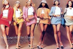 The supermodels of the 90´s in Chanel by KarlLagerfeld