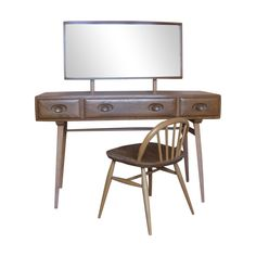 Blue Label Vintage Ercol Dressing Table & Chair
