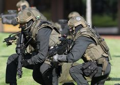 Members of the GSG 9 anti-terrorism unit of the German Federal Police (Bundespolizei). This elite group became a model for many other domestic military groups around the world, including SWAT teams in America.