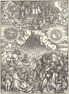 """""""Die Eröffnung des sechsten Siegels"""", Holzschnitt von Albrecht Dürer"""