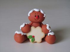 Polymer Clay Gingerbread with Cookie by ClayPeeps on Etsy, $9.00