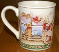 "1990 Country Kids Coffee Cup Mug ""Christmas is Love"" by  Watkins - Collector Mug #CountryKids"