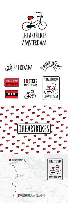 Amsterdam - Europe Project #logo #graphicdesign #bike #bicycle #amsterdam #netherlands #illustration