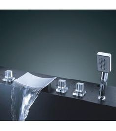Waterfall Faucet ARCH Pinterest Waterfall Faucet Faucet And - Contemporary waterfall faucets riflessi from gessi