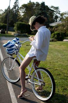 hop on a bike
