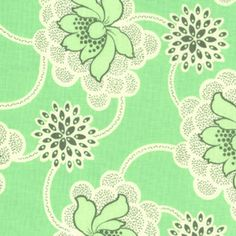 Amy Butler - Daisy Chain - Clematis in Green