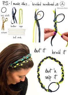 super easy headband - It is super easy to make, what I like with having the hair tie in it is that the size is easily adjustable because I have a hard time getting headbands to stink in my hair. Also I didn't use leather which I don't think made any difference other than texture.