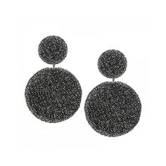 Gray Simple Geometric Round Earrings ($3.16) ❤ liked on Polyvore featuring jewelry, earrings, geometric jewelry, gray jewelry, gray earrings, grey earrings and earring jewelry