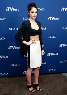 Actress Janet Montgomery attends the 'Salem' press junket during aTVfest presented by SCAD on February 6, 2015 in Atlanta, Georgia.