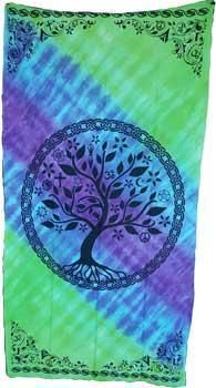 "44"" X 88"" Multi Faith Tree Curtain"