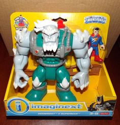 Fisher Price Imaginext DC Superfriends DOOMSDAY & SUPERMAN Figure Set…