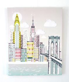 New York Brooklyn bridge  Canvas Textiles Print by lauraamiss