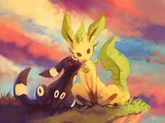 Umbreon & Leafeon - Pokemon