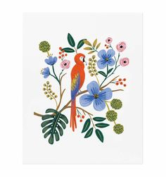 Archival print created from an original illustration by Anna Bond. Rifle Paper Co. takes great care in ensuring that all stock and printing methods bring their designs to life in a way that is elegant