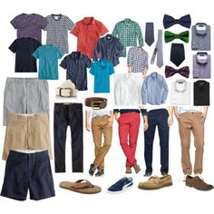 Men's Summer Capsule Wardrobe - Casual   Business Casual by pearlsandcupcakes on Polyvore featuring Oxford, J.Crew, Banana Republic, Puma, Clarks, Gap, Old Navy, Scotch