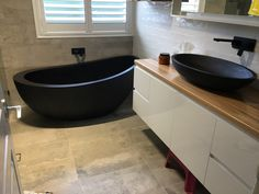 Autumn stone bath in Matt black. Stone Bath, Corner Bathtub, Autumn, Bathroom, Black, Washroom, Fall Season, Black People, Full Bath