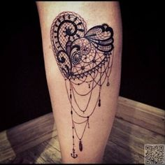 19. #Heart of Lace - Wait Til You See These 28 #Lovely Lace Tattoos ... #Tattoo