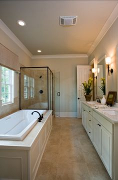#bathroom  Bathroom Love this. Looks just like the bathroom at the Cambria Pines Lodge bungalow :o)