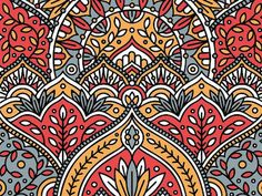 Pattern fun for a project incorporating contemporary Indian design elements. Graphic Design Pattern, Graphic Design Inspiration, Design Art, Design Patterns, Indian Illustration, Pattern Illustration, Mehndi, India Pattern, Paisley
