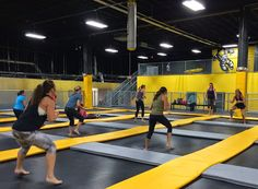 A new way to exercise with rebounding in a huge trampoline park! Come fly and burn up to 1000 calories per hour!!! www.thinairpark.com/airfit