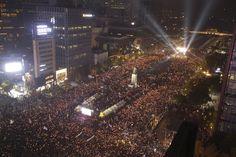 """광화문에 20만명이 모여 """"박근혜 퇴진""""을 외쳤다(화보)"""