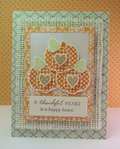 """I created this card using the Wplus9 set """"Pretty Patches: Pumpkin""""."""
