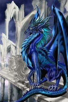 Ruth Thompson Nightfall - Dragon's Lair RRA Dark Fantasy Art, Beautiful Fantasy Art, Mythical Creatures Art, Magical Creatures, Fantasy Creatures, Mythical Dragons, Cool Dragons, Dragon Artwork, Dragon Pictures
